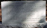 Colonel John Sampson Headstone